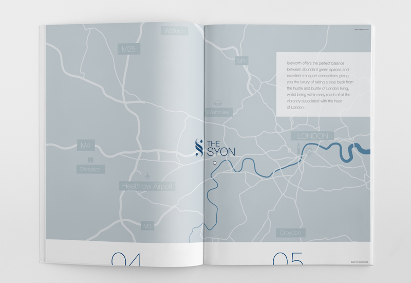 the syon apartment marketing brochure map