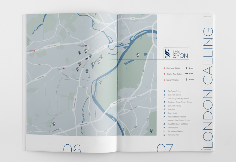 the syon apartment marketing brochure