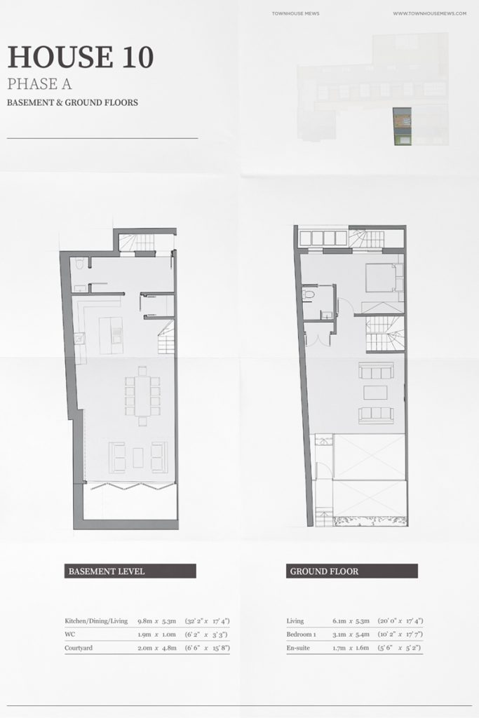 elegant brochure design townhouse floorplan